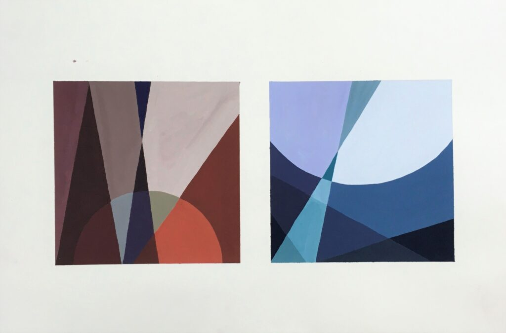 平面構成 色彩基礎 アクリル