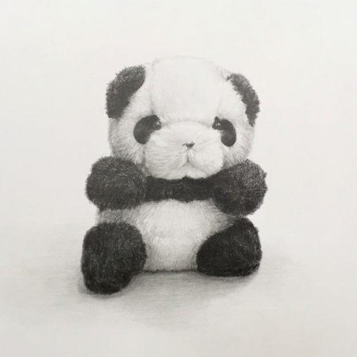 パンダのぬいぐるみデッサン